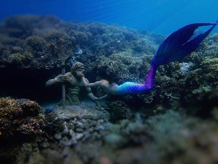 underwater statues in alegria cebu
