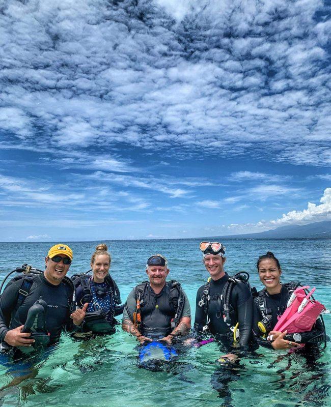Underwater statues Philippines diving