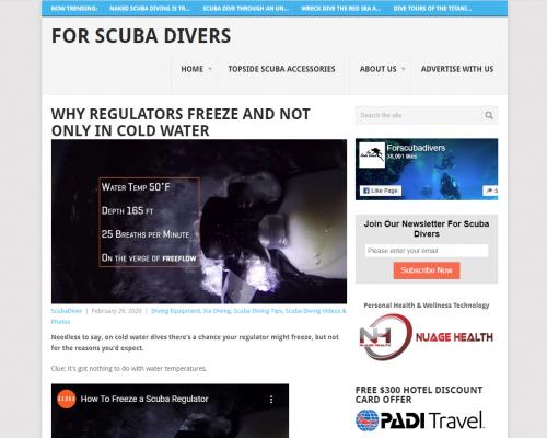 copywriitng for scuba diving