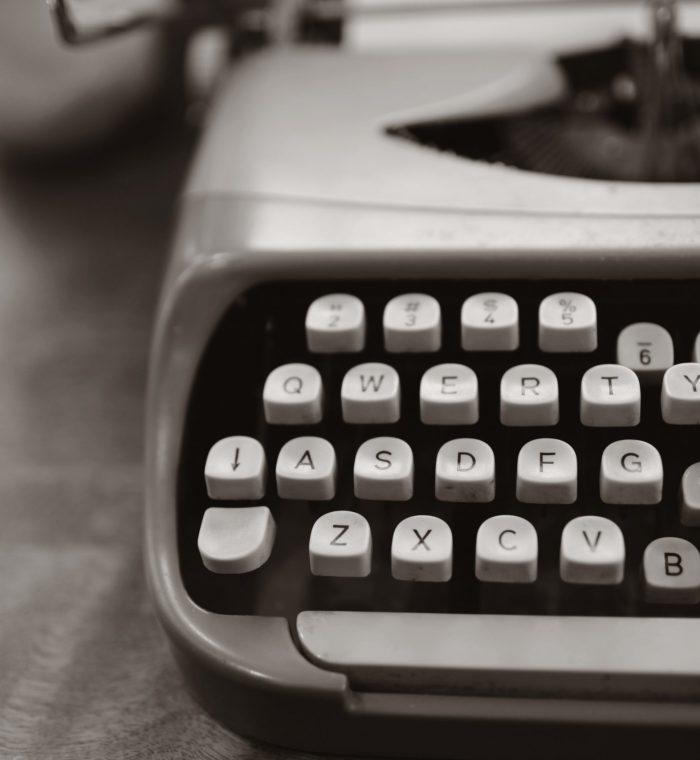typewriter for letter writing